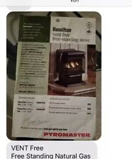 Hamilton Free-Standing Natural Gas Stove, Vent Free