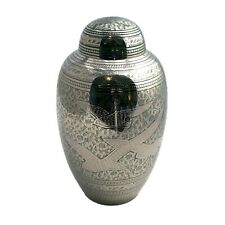 Well Lived® Brass Gray Mat Birds Adult Cremation Urn for human ashes
