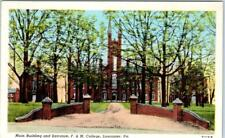 LANCASTER, Pennsylvania  PA    F. & M. COLLEGE  Main Bldg, Entrance  Postcard