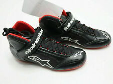 ALPINESTARS 1-K Kart Racing SHOES Black with Red Karting Light Boots Race NEW