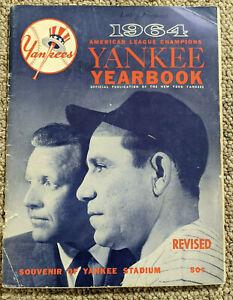 1964 New York Yankees Yearbook Mantle Maris Pepitone Revised Edition Stadium NYY