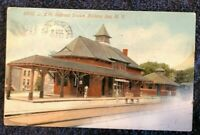 Postcard NY Ballston Spa Railroad Station D&H RR Depot Saratoga County NY pre 15