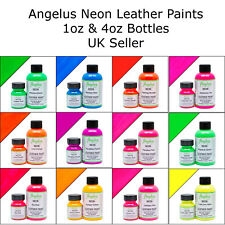 Angelus Neon Acrylic Leather Paint for Shoes, Sneakers, Bags, 12 Colours 1oz/4oz
