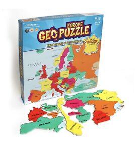 GeoToys GeoPuzzle Europe Educational Kid Toys, 58 Piece Geography Jumbo Jigsaw