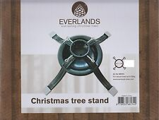 Everlands Metal Christmas Tree Stand Holds Width Up To 10cm 4 Inch Holder Green