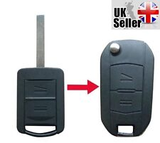 "New Vauxhall Corsa Meriva Combo Opel 2 Button Remote Key Fob Case ""WITH LOGO"""