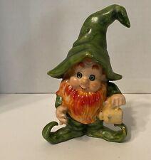 Vintage Lefton 3522 Pixie Elf Mid Century Figurine Estate Find