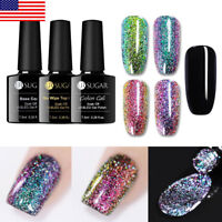 UR SUGAR Starry Chameleon UV Gel Polish Holographic Gel Nails Varnish Black Base