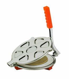 "Stainless Steel Tortilla Chapati Roti Press Maker Puri Papad 7.5"""