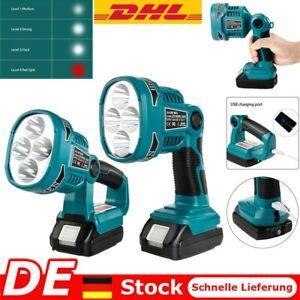 LED Arbeitslicht für Makita DML 812 14,4V/18V Li-ion Taschenlampe Workleuchte DE
