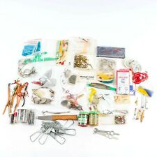 Vintage Tackle Box Contents Lot Spinners Flashers Sinkers Davis Worth Pflueger