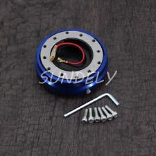 Universal Blue Fit Aftermarket Steering Wheel Quick Release Hub Adapter Snap AU