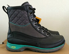 Womens Sz 5.5 UGG Black Teal Carora Boots Thinsulate Winter Warm 1005625 W / BLK