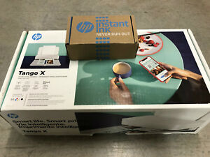 HP Tango X Smart Home Mobile Color Inkjet Wireless Printer scanner White-NEW Ink