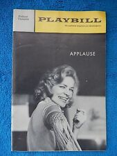 Applause - Palace Theatre Playbill - May 1970 - Lauren Becall