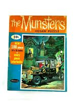 THE MUNSTERS JIGSAW PUZZLE 1965 100 PIECE COMPLETE WHITMAN