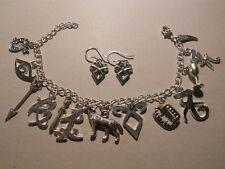 Pulsera +Pendientes Shadowhunters Cazadores de Sombras charm bracelet Clary Jace