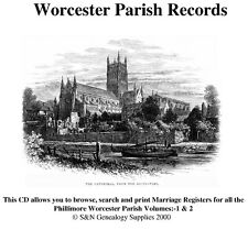 Worcestershire Parish Registers, Complete Phillimore Marriages Records
