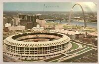 St Louis Missouri Downtown Gateway Arch Busch Memorial Stadium Postcard