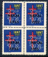 STAMP / ERINNOPHILIE TIMBRE VIGNETTE / IANT 1933 / NATAL 1955 / BLOC DE 4
