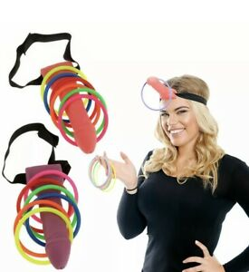 Dick Head Game Willy Ring Toss Heads Hoopla Bride To Be Hen Do Stag Night Party