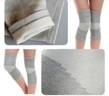 2 Grey Knee Patella Support Elasticated Sleeve Brace Gym Wrap Compression Sports