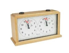 Wood INSA Analog Chess Clock