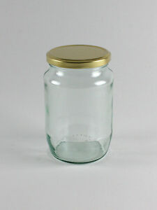 60 x 2lb Jam Round Glass Jar for Food Jam Chutney Pickle Honey Favours Sweets