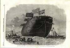 1862 Chatham Dockyard Hms Frigate Royal Oak Ironclad Launched
