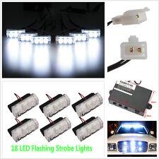 6 Pcs x3 LED Waterproof Flashing Strobe White Lights Emergency Flashing Warning
