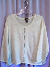 WOMEN'S SIGRID OLSEN SPORT LIGHT GRASS GREEN CARDIGAN SWEATER SIZE 3X