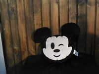 "Disney Store Emoji Mickey Mouse Wink 13"" Plush - SUPER SOFT - EXCLUSIVE"