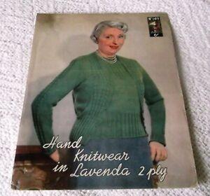 ORIGINAL VINTAGE1940's? LISTER LAVENDA KNITTING PATTERN No.149 LADY'S TWIN SET