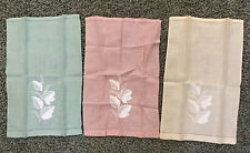 Set 3 Vintage Linen Organdy Guest Towels 