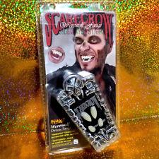 Spirit Halloween Vampire Fangs 2 Sizes deluxe costume werewolf teeth coffin box