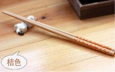 bambú Impermeable madera reutilizable palillos Chino Japonés Coreano rojo azul