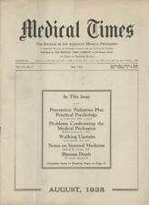 August 1928 New York Medical Times Journal Medicine Doctors Trade Magazine