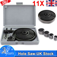 16pc Holesaw Kit Hole Cutter Set Plumbers Kitchens Fitters for Cutting Wood