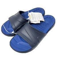 Crocs Men's 8 Reviva Slide Navy White Water Shoes Sandals Slides New