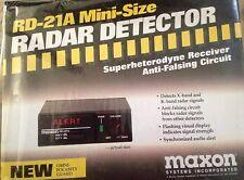 RD-21A Maxon mini size Radar Detector RARE BRAND NEW IN BOX