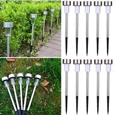 10x Outdoor Stainless Steel Solar LED Path Light Lawn Landscape Garden Spot Lamp