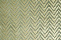 CHENILLE CHEVRON PRINT SAGE MODERNUPHOLSTERY DRAPERY FABRIC SOLD BY THE YARD