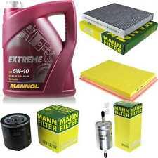 MANNOL 5 L Extreme 5W-40 Motor-Öl+MANN-FILTER Filterpaket VW Fox 5Z1 5Z3 1.4