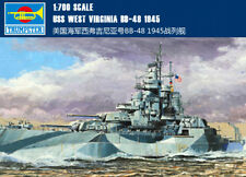 Uss West Virginia Bb-48 1945 1/700 ship Trumpeter model kit 05772
