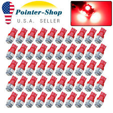 50x Pure Red T10 5050 5SMD Interior Map Dome LED Instrument Panel Light Bulb W5W