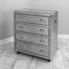 Modern Bedroom Furniture Aluminium Studded Chest of Drawers
