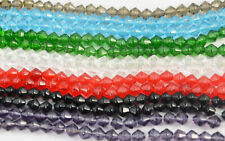 4mm-8mm Bicone Crystal Beads Fishing Wedding Bead Craft Jewellery Making DIY