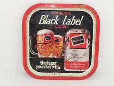 More details for vintage 1970's carling black label advertising bar serving pub tray mancave beer
