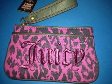 Juicy Couture Pink Leopard  Print Womans Hand Bag / Clutch
