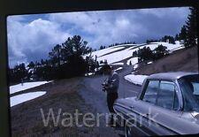 1960s kodachrome  Photo slide Man with  camera  car automobile